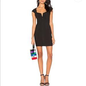 NWT Free People Lia Black Denim Bodycon Mini Dress